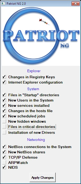 Windows主机IDS—Patriot NG 2.01